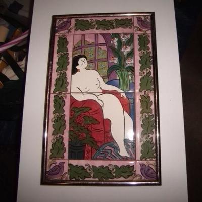 Carol Kieser hand painted tiles