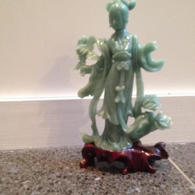 Jade statue repair neck