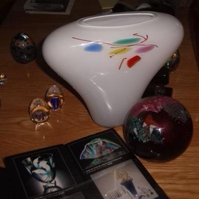 One of a kind art glass