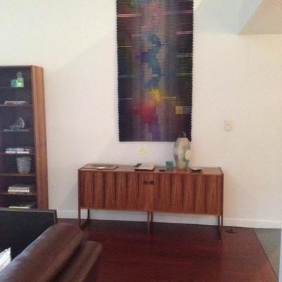 Rosewood side bar. Tall Tapestry wall hanging