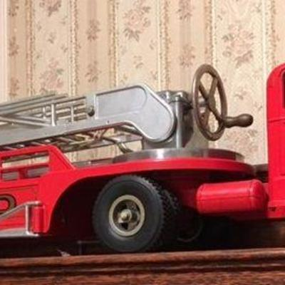 SMFD Firetruck with box Smith Miller Mack Aerial Fire Truck no. 3 RR0505 https://www.ebay.com/itm/123503414510
