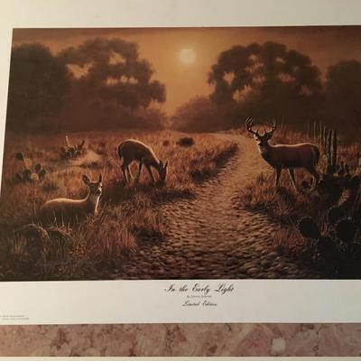 In the Early Light By Dennis Schmidt LE;Signed; # 898/1000