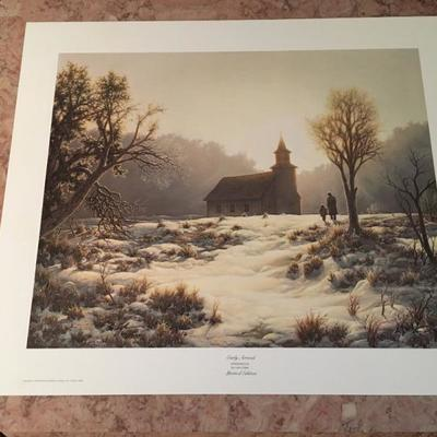 Early Arrivals By Larry Dyke LE: Signed; # 60/1600