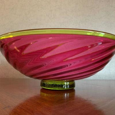Young and Constantin Art Glass Bowl