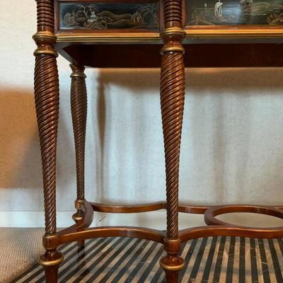Gilt Leg Console Table