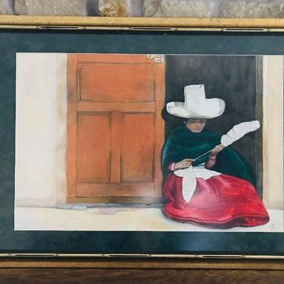 MAC Alfonse. Original watercolor. Mexico. $100