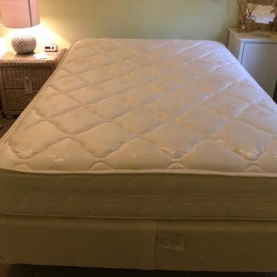 Double bed boxspring and mattress $85 2 available