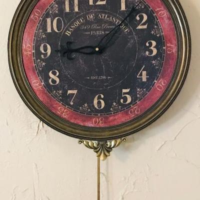 Creative Coop Wood and Metal Wall Clock  $38