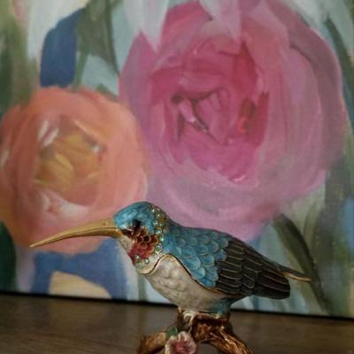 Hummingbird Trinket Box    $15