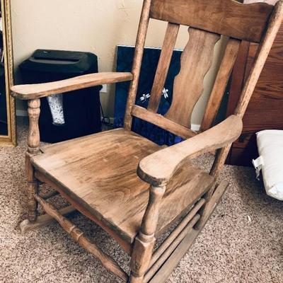 Wood Rocking Chair   $45