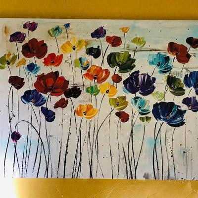 Liles Art Print in Canvas by Jolina Anthony $45