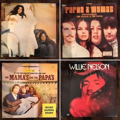 John Lennon and Yoko Ono. Papas & Mamas. Willie Nelson.