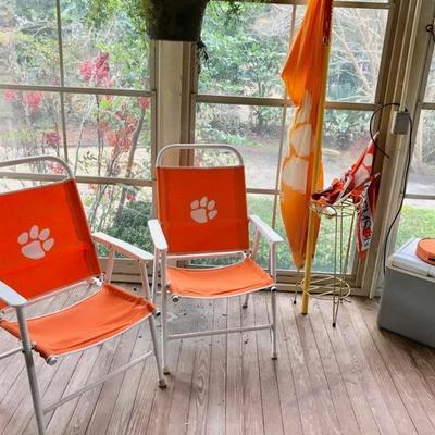 Clemson folding chairs $20 each