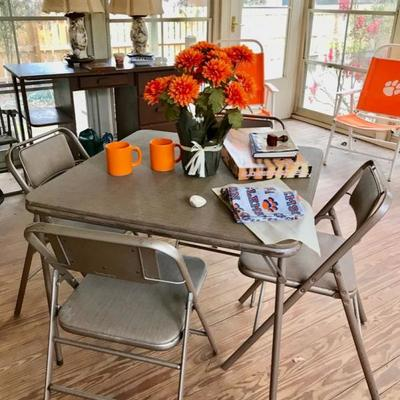 Samsonite folding card table and 4 chairs $45