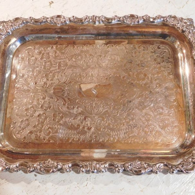Baroque Sterling Tray by Wallace -- 56.66 Troy Ounces