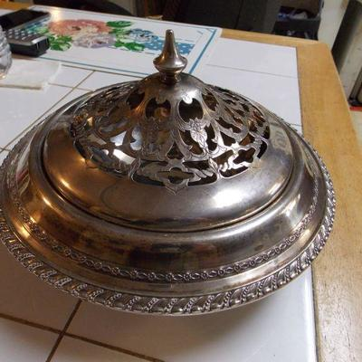 Sterling Footed Bowl /Lid