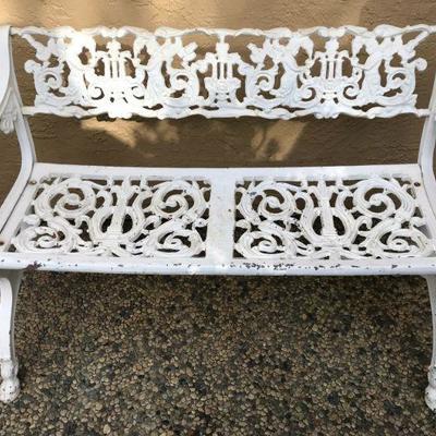 19th Century Antique Karl Friedrich Schinkel Cast Iron Garden Bench