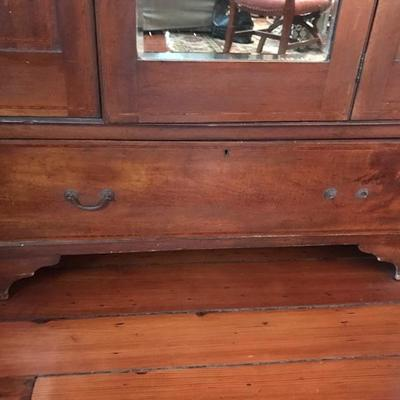 Antique inlaid armoire $385 78 X 46 X 16 7/8