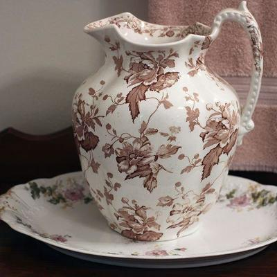 Antique pitcher and basin