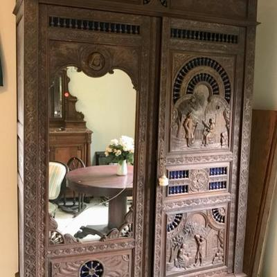 Antique Brittany, France 19th Century Armoire $1800 This style of hand crafted carved furniture is unique to the northwestern province of...
