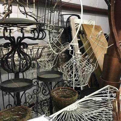 Wrought Iron Trellis; Archways; Candle Stands