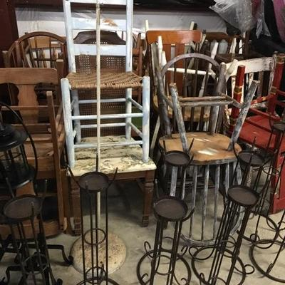 Chairs, Candle Stands