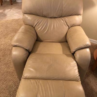 Light Leather-like Recliner