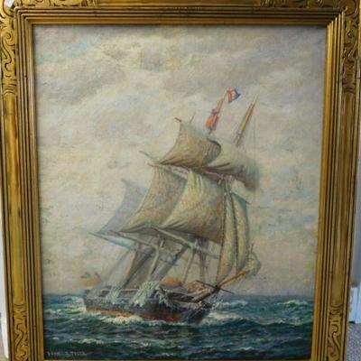 James G. Tyler - Whaler in Mid Ocean - Listed Artist
