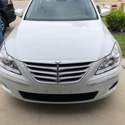 2010 Hyundai Genesis 4.6 four-door sedan with stitched leather seats and only 15,267 miles - only $10,500!