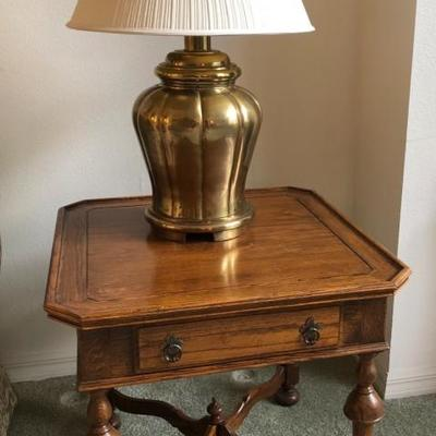 Matching Ethan Allen Square Wood End Table - (24