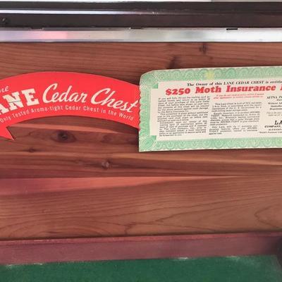 Lane mahogany cedar chest with key $145
