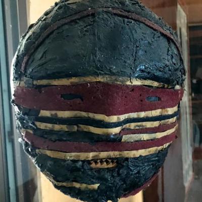 Vintage Tribal Masks; New Guinea, Africa