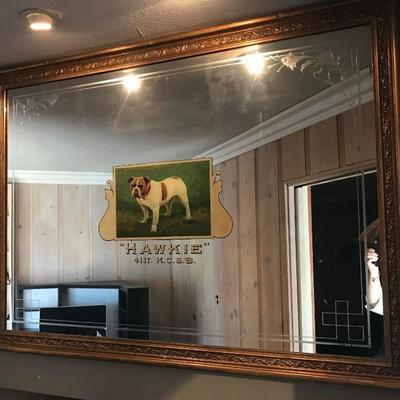 Large mirror, Hawkie K.C.S.B.