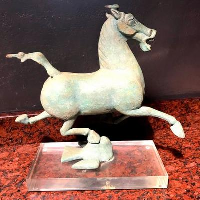 The Flying Horse of Gansu #160 of a limited edition replica by Alva Museum Replicas, Inc., New York, ca. 1975