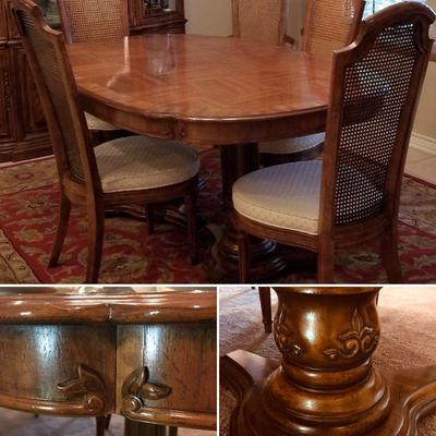 Dining room table. Expands with two leaves (not shown). $300