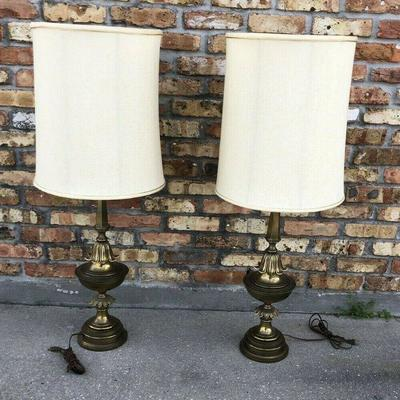 Stifle Brass Lamps with Shade Milk Glass Shades / Lens LA4099 https://www.ebay.com/itm/113732558362