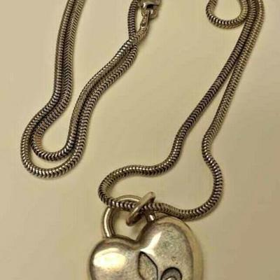 MIGNON FAGET STERLING SILVER 20 IN NECKLACE WITH HEART CHARM RX108 https://www.ebay.com/itm/123746672223