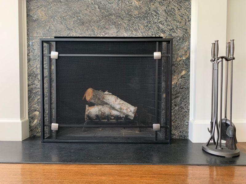 Modern Fireplace Screen and Tools