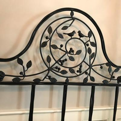 Queen size wrought iron bed $1,100 Box spring and mattress included