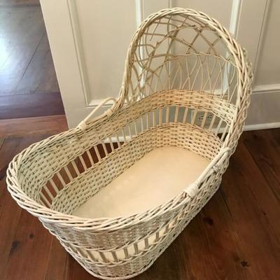 Second generation wicker bassinet $75