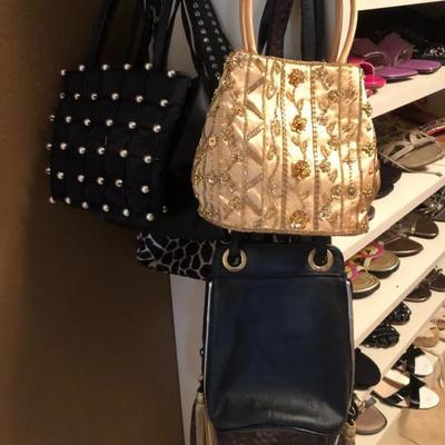 Purses, purses, purses. Small, medium large!