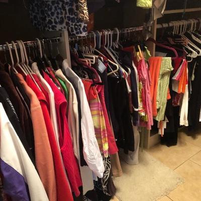 A closet full of color!