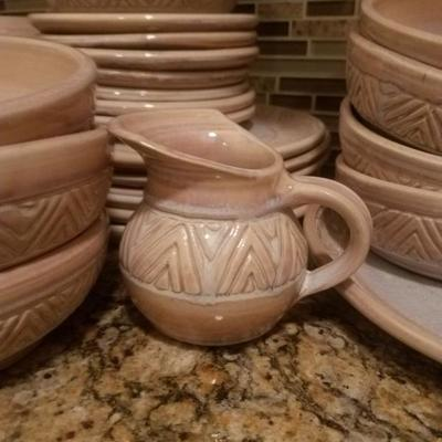 Studio Pottery Dinnerware Set Signed by the artist