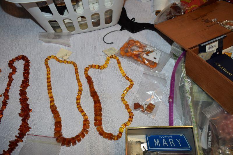 Amber Costume Jewelry