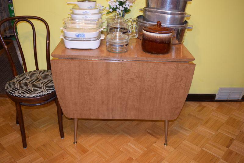 Vintage Drop-Leaf Table & Chair
