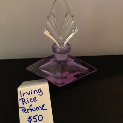 Irving Rice Perfume!