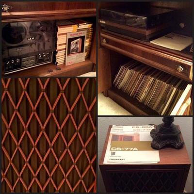 AKAI 1730D-SS, Reel to Reels, Vintage Pioneer Speakers