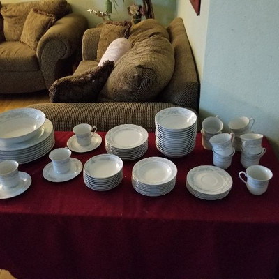 One of 2 sets of china