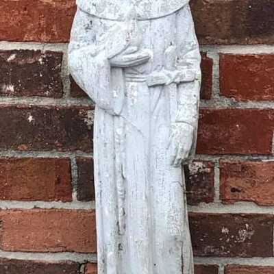 Francis of Assisi Cement 2 ft Statue $45