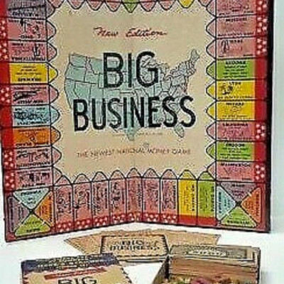 VINTAGE BIG BUSINESS GAME 1930s COMPLETE WITH GAME PIECES LA6119 https://www.ebay.com/itm/113771190532